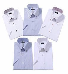 ワイシャツ半袖 メンズ ビジネス夏の5枚 セット好きなセットが選べる (3L. 0503C)