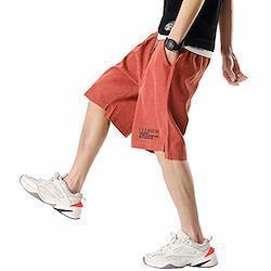 ハーフパンツ メンズ 大きいサイズ スポーツ 短パン メンズ 夏 速乾 半ズボン メンズ おしゃれ red 2XL