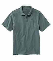 L.L.Bean(エルエルビーン) メンズ レイクウォッシュ・オーガニック・コットン・ポロシャツ、半袖 米国フィット・レギュラー Mサイズ グリーン Shadow Green 1000015903
