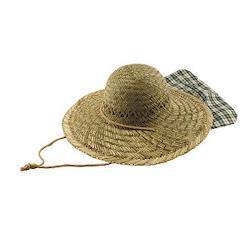 イグサ帽子 (脱着式日除け付)