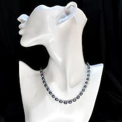 淡水真珠6mmライスネックレス(黒)