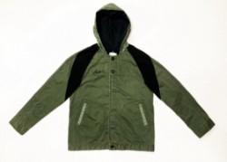 Sulfide dyeing satin military hoodie jacket