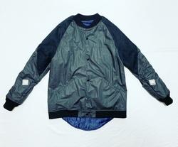 【FURY】18AW  Oil coating typewriter varsity jacket
