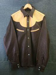 GLEEM シャツ 861 [861] (ブラウン×キャメル)