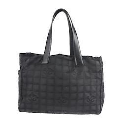 CHANEL トートバッグ A15991 ナイロンキャンバス レザー