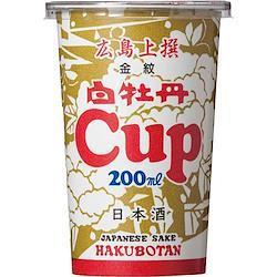 白牡丹 広島上撰 金紋  200mlライトカップ 30本入り
