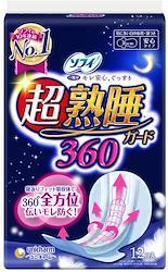 ソフィ 超熟睡ガード 360 特に多い日の夜用 羽つき 36cm 12コ入(unicharm Sofy)