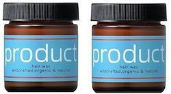 product プロダクト オーガニック ヘアワックス <42g×2個セット> お肌もケアする、新世代ヘアワックス