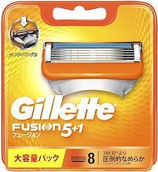 ジレット フュージョン 5+1 替刃8個入り×2個セット