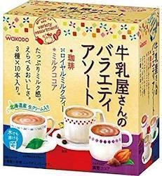 WAKODO 牛乳屋さんのバラエティアソート 30本入×2個セット (珈琲・ロイヤルミルクティー・ミルクココア)