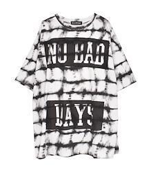 タイダイビッグTシャツ【HELLCATPUNKS】 ホワイト フリーサイズ レディース ユニセックス(HCP-T-0124)