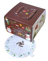【クリスマスケーキ箱】ジングルベル4.5号サイズ 4.5D(高さ105) 200枚