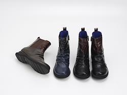 幾重【ikue】 4E切り替えサイドゴアブーツ i8826 dark brown  22.5cm