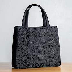 コード刺繍フォーマルトートバッグ