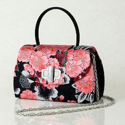 振袖用バッグ「八重桜重ね」黒