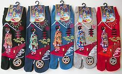 和柄メンズ足袋靴下 舞妓さんと京都28-30cm 10足セット