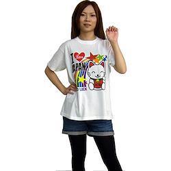 招き猫Tシャツ L