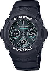 [カシオ] 腕時計 ジーショック Black and Green Series 電波ソーラー AWG-M100SMG-1AJF メンズ ブラック