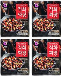 ジャージャー  【直火ジャジャン粉末 4袋セット】麺料理 簡単調理 本格 ジャジャンの素 業務用 韓国料理 ご飯のお供 ごはんのおとも