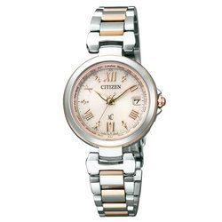 シチズン クロスシー XC ハッピーフライト ワールドタイム ソーラー電波 おしゃれ プレゼント EC1034-59W [正規品] レディース 腕時計 時計