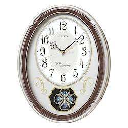 SEIKO CLOCK アミューズ電波掛時計 AM259B トリプルセレクション メロディ 薄金色パール