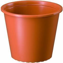 大和プラスチック プラ鉢 8号 ブラウン