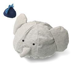 【子供服】 moujonjon (ムージョンジョン) ゾウ・恐竜ベビー帽子 46cm M15800