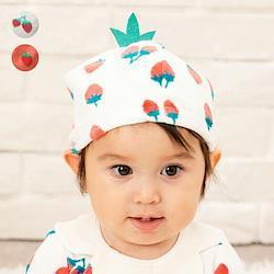 【子供服】 moujonjon (ムージョンジョン) イチゴ帽子・キャップ 46cm M15801