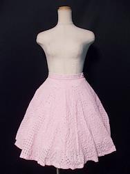 お花透かしスカート
