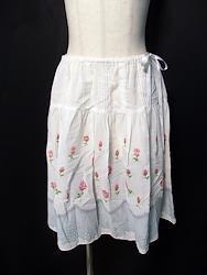 バラ&レースプリントノスカート