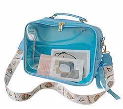 [CAWKAY] 痛バッグ 3way ショルダーバッグ リュックサック ハンドバッグ オタク ぬいぐるみ イベント (ブルー)