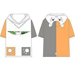 夏目友人帳 tシャツ メンズ 半袖 ファッション 帽子があります 夏目貴志&ニャンコ先生 プリント シャツ インナーシャツ ・ベーシック カジュアル ファッション トップス 柔らかい 快適(2# XL