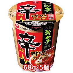 農心 辛 キムチカップ 68g 小 5個 韓国 料理 食 インスタント ラーメン 即席 カップめん らーめん