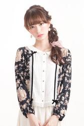 【direct sales】Secret Garden Blouse  color: Black
