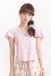 【direct sales】Talking Rose Tee  Color:Pink