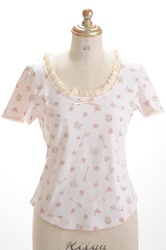 【direct sales】Talking Rose Tee  Color:Ivory
