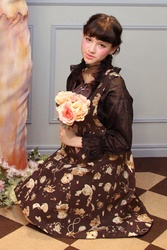 【direct sales】Antique Alice Flare Dress  Color: Brown