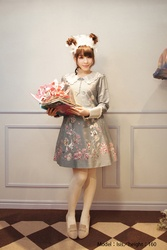 【direct sales】Falling Alice Dress  color:BlueGray