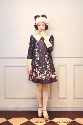 【direct sales】Falling Alice Dress  color:NavyBlue