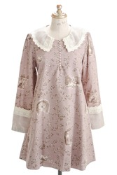【direct sales】Secret Garden Dress  color: Grayish beige