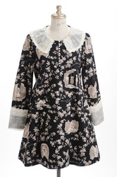 【direct sales】Secret Garden Dress  color: Black