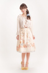 【direct sales】Falling Alice Skirt  Color: Ivory