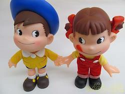 不二家 お人形 ペコポコソフビ人形