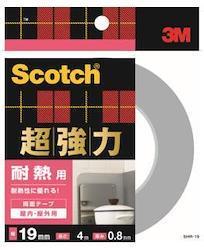 3M 超強力両面テープ 耐熱用 (SHR-19) 19×4m ケース10巻入り