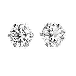 【 DIAMOND WORLD 】レディース ジュエリー PT900 ダイヤモンド ピアス 0.50ct 6本爪タイプ ダイヤモンド FGカラー