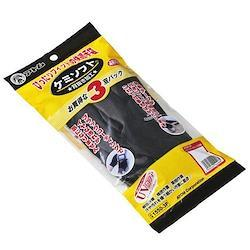アトム 1550-3P ケミソフト(背抜き手袋) ブラック 3双組×10セット L