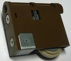 MJB907K 内装引戸用Y戸車 ダークブラウン 2個入