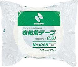 ニチバン 布粘着テープ(重量物用)102N白 巾50mm×長25m 102N5-50 1梱(30個)