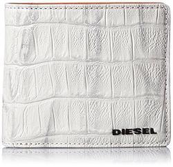 (ディーゼル) DIESEL メンズ 財布 二つ折り 型押しクロコウォレット X03902P0178 UNI ホワイト T1003