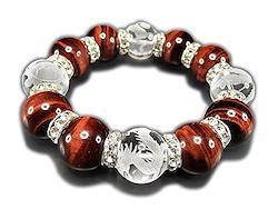 石街 レッドタイガーアイ 四神 手彫り 水晶 天然石 超太18mm 高級ロンデル 数珠 ブレスレット